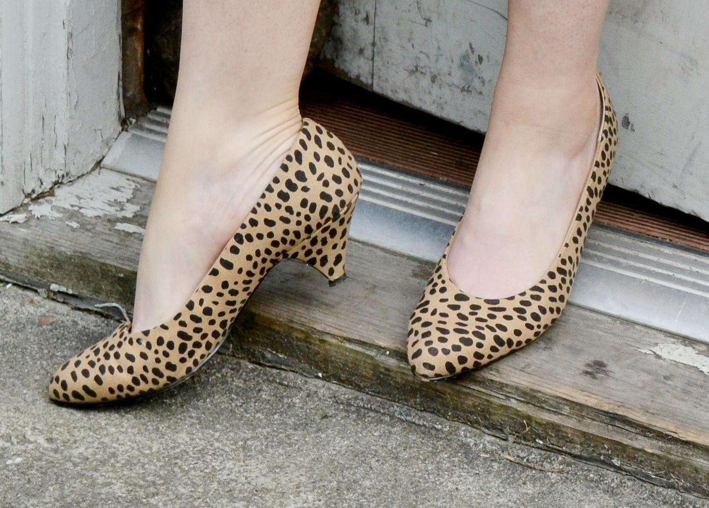 high heels, leopard print, vintage