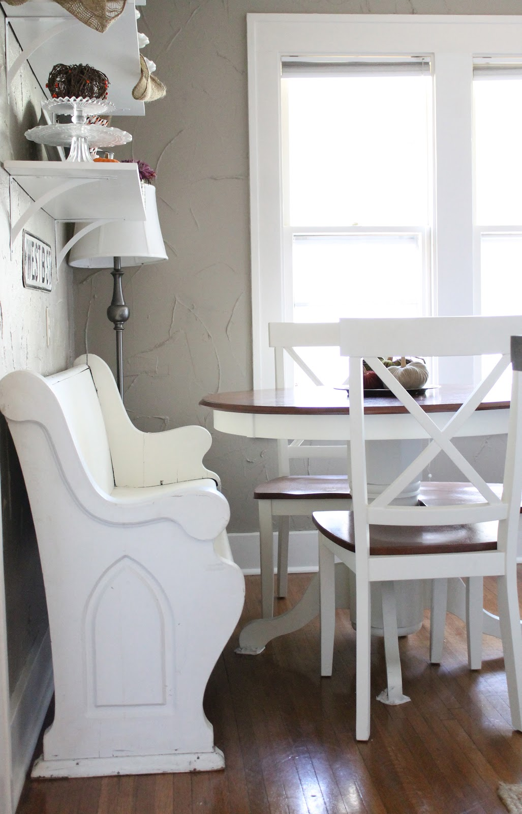 12th and white a breakfast nook. Black Bedroom Furniture Sets. Home Design Ideas