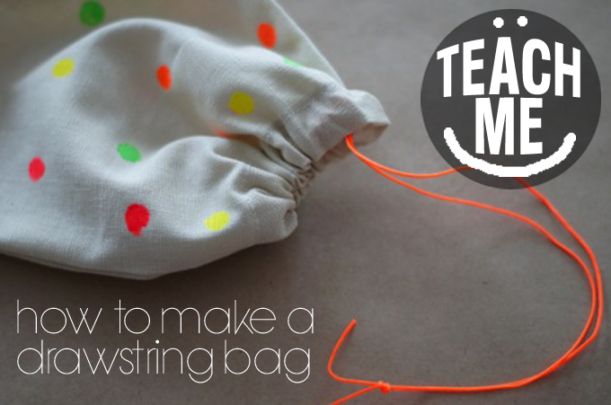 Make a drawstring bag even if you can't sew | Maxabella Loves