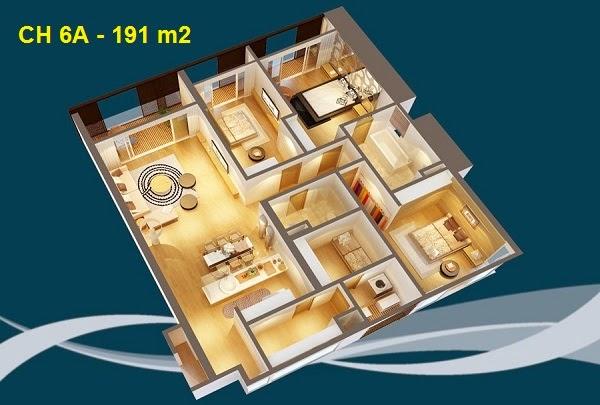 Thiết kế chi tiết căn hộ 6A - 191m2 chung cư Dolphin palza 28 trần bình