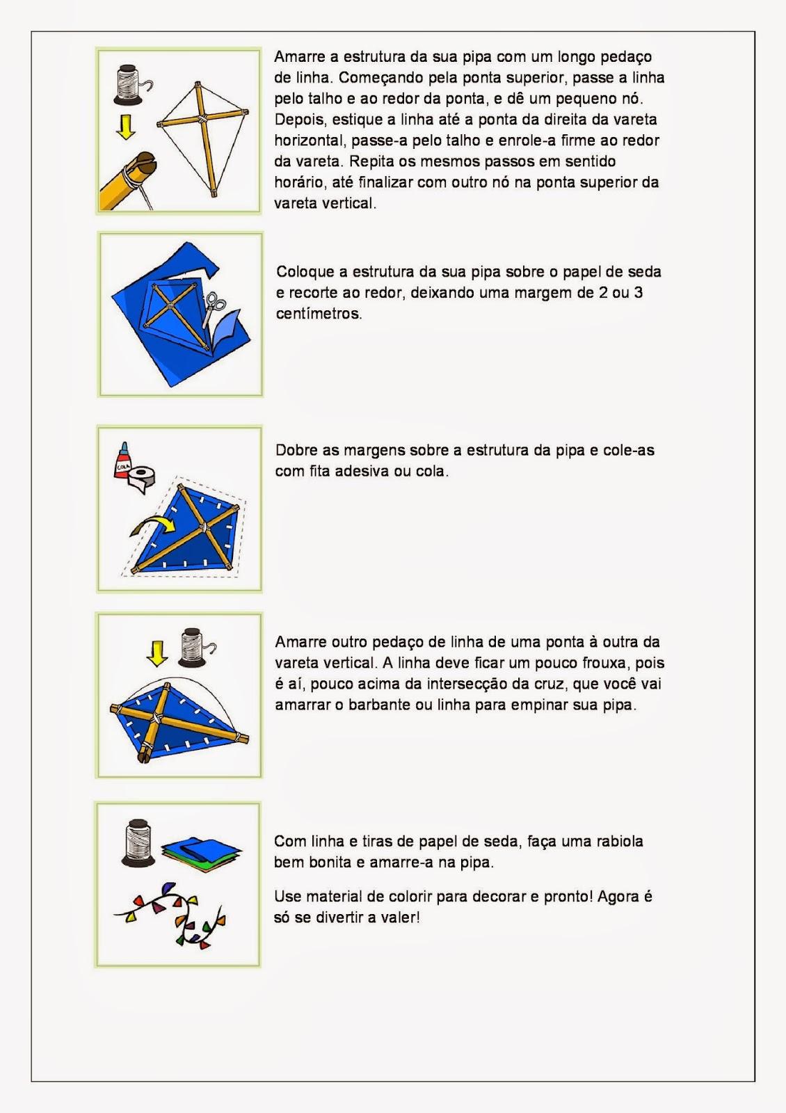 Brincadeiras Folclóricas - Como fazer uma Pipa