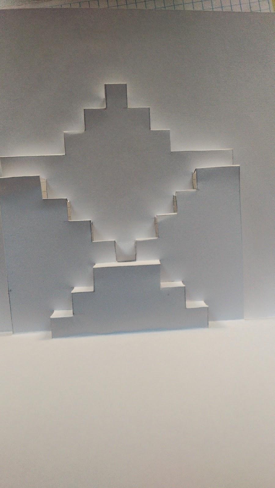 Kirigami online: Escaleras