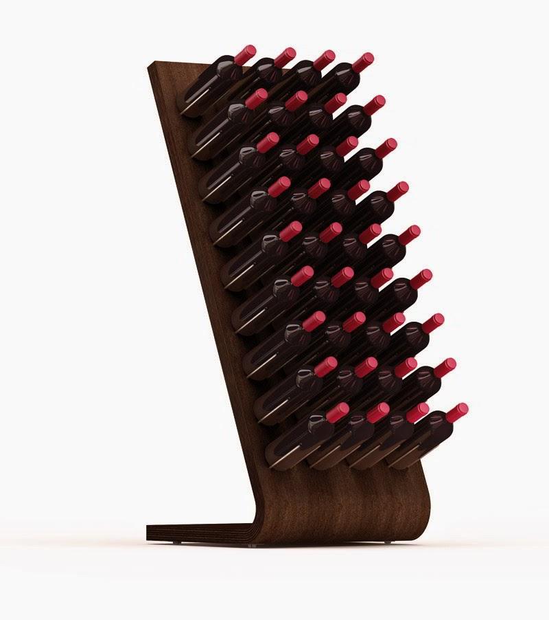 Per filo e per di segno design tutto quello che circonda la bottiglia di vino - Portabottiglie di vino in legno ...