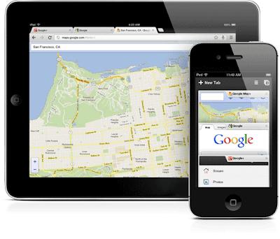 برنامج جوجل كروم 2013 Google Chrome iphone ipad للايفون والايباد