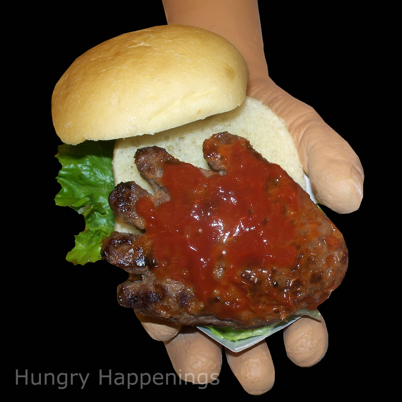Hand-Burgers - Creepy Halloween Recipe - Hungry Happenings