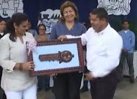 Primera dama recibe las llaves de la ciudad de Olanchito