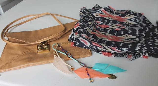 Embellished Leather Clutch Bag