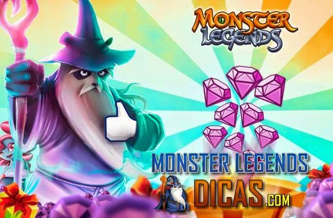 Ganhe Joias ( Gemas ) Grátis no Monster Legends