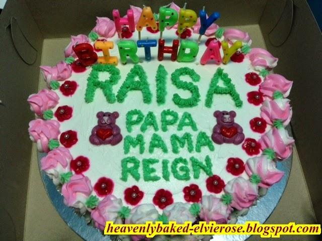 Raisas Birthday Cake Heavenly Baked By Elvie