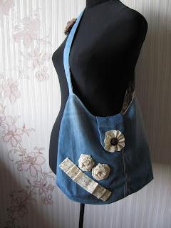 джинсовая сумка, сумка своими руками, сумка ручной работы