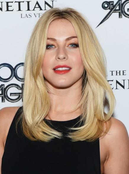 Medium Blonde Straight Hairstyles I