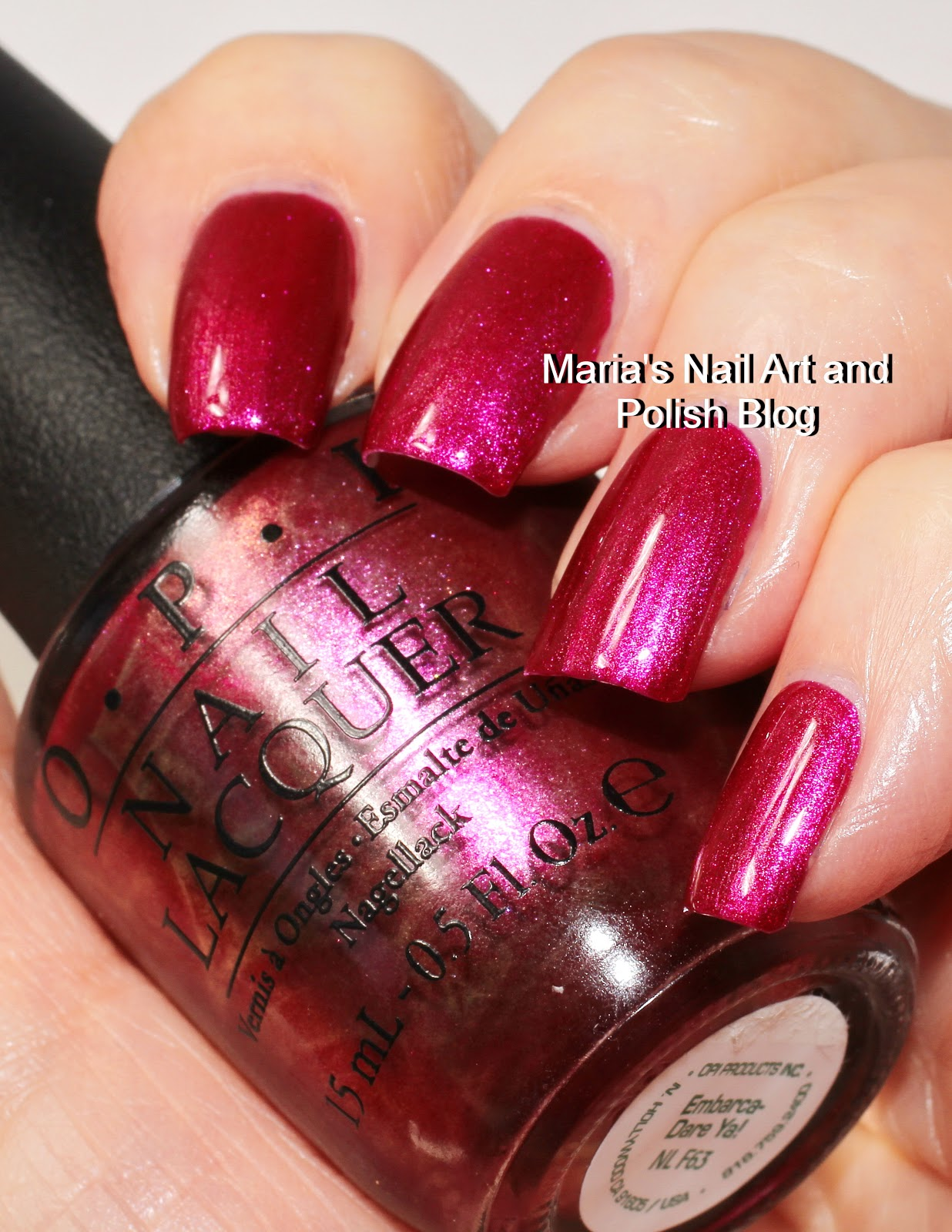 Marias Nail Art And Polish Blog Opi Embarca Dare Ya From Me To Q