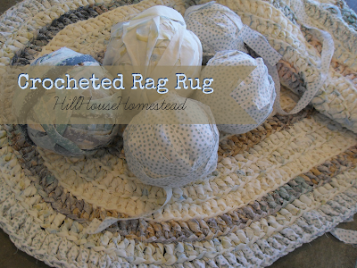 crochted rag rug