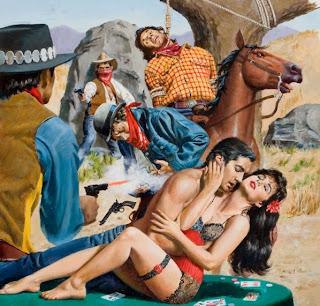 Western cover van George Wilson (olie op doek)
