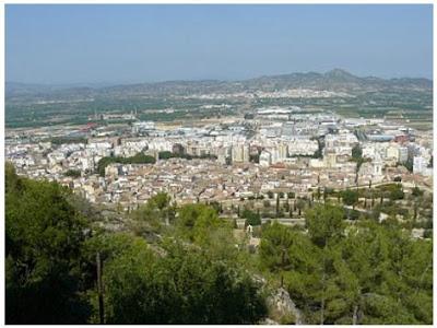 Vista de la ciutat de Xàtiva des del Castell (Fotografia de Mercè Climent)