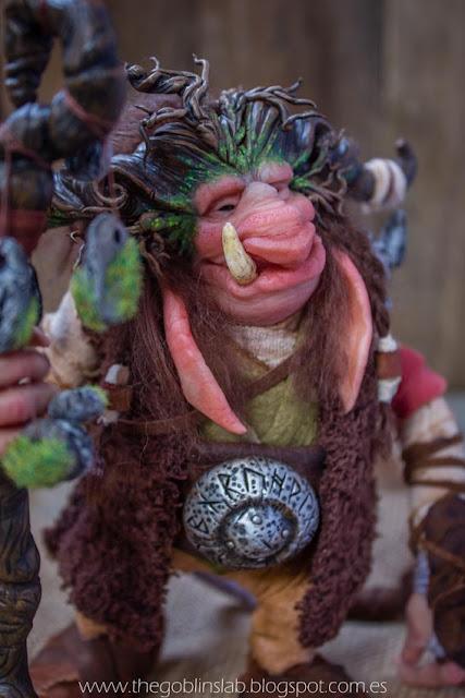 ooak goblin guardian of the runes