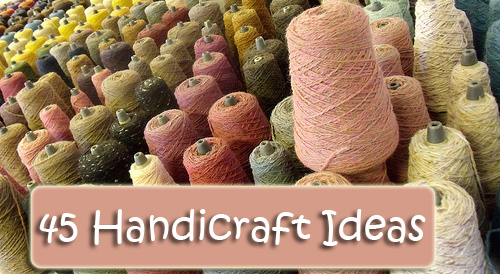 Charlotte Mason encouraged us to teach our children useful skills that could benefit them throughout life. Here is a list of 45 handicraft ideas.