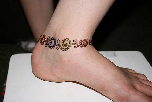 Mehndi Ankle Images : Henna ankle bracelet designs makedes.com