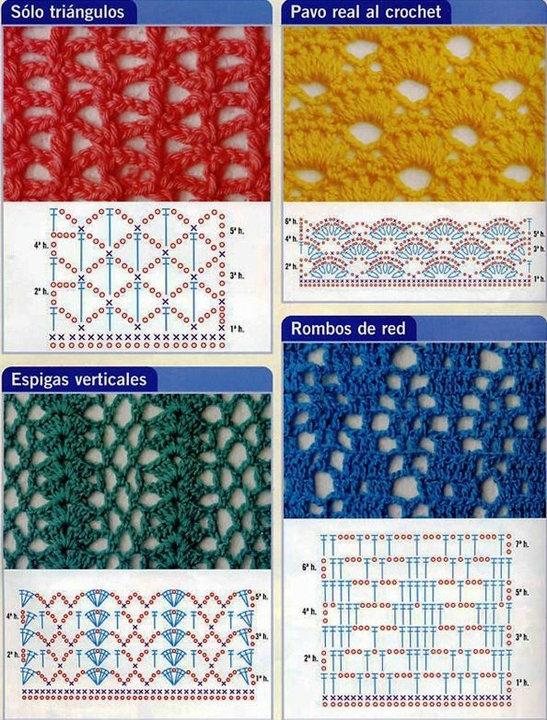 Muestras de crochet caladas - Imagui