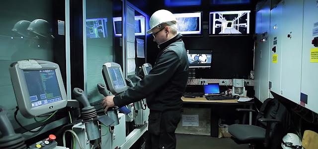 Пост управления роботизированной дробеструйной линией