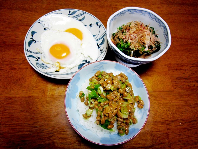 朝食の納豆