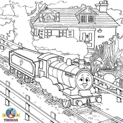 Scottish free coloring pages for boys kindergarten worksheets Thomas the tank engine Donald train