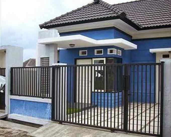 Rumah Minimalis Warna Biru