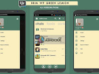 BBM MOD Windows Phone Green Lemon v2.11.0.16 Apkatis Terbaru Gratis