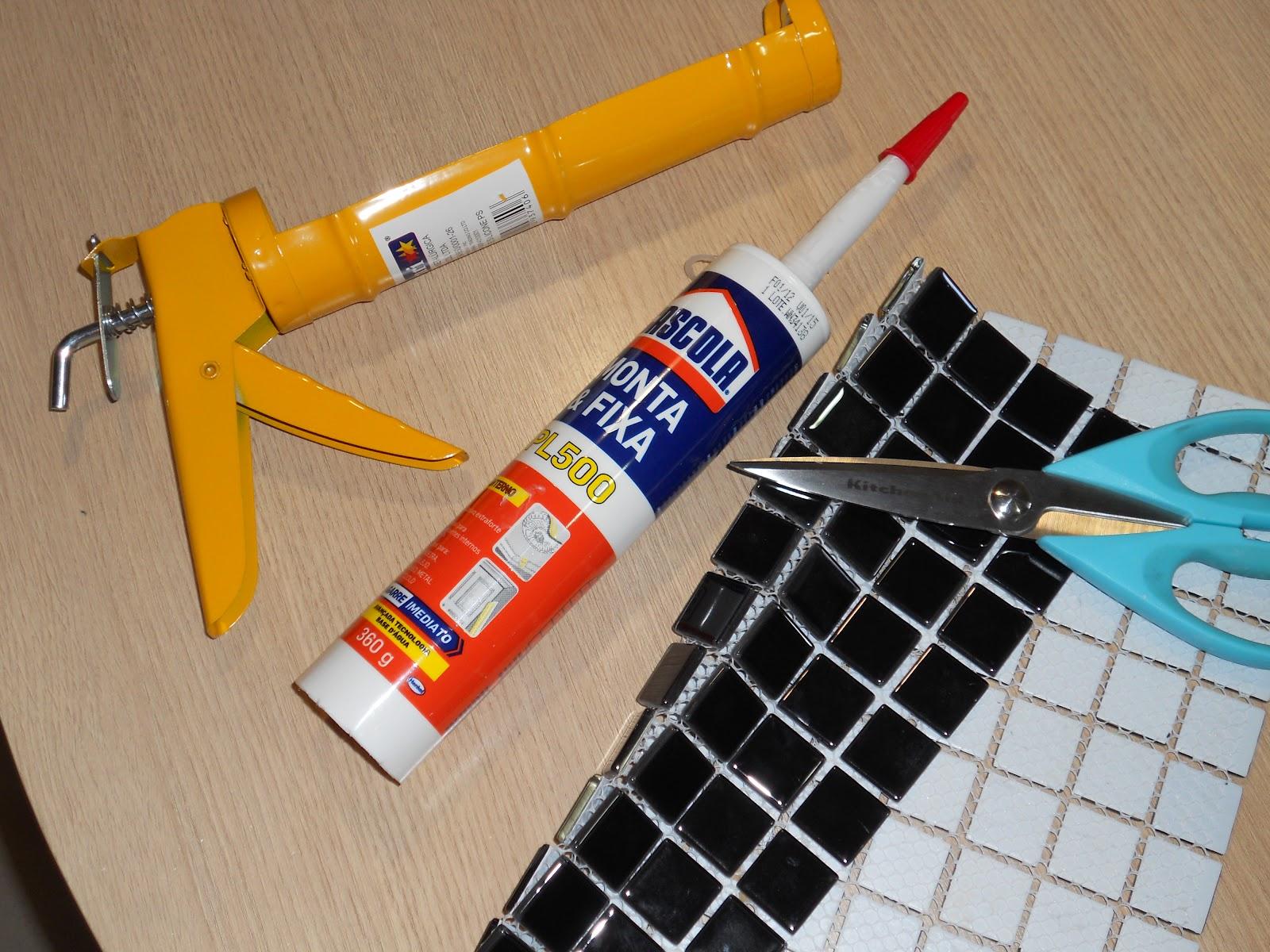 #C67F05 ViDecorando: Era uma vez um piso branco 60 minutos para executar! 1600x1200 px posso usar cimento queimado no banheiro