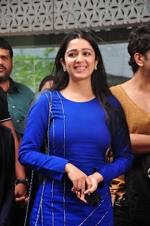 Actress Charmi Kaur Latest Pictures in Short Dress with R Rajkumar Movie Team at Yes Mart 0006