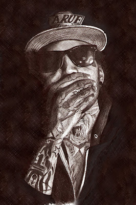 kid ink - rapper drawings - hip hop sketch