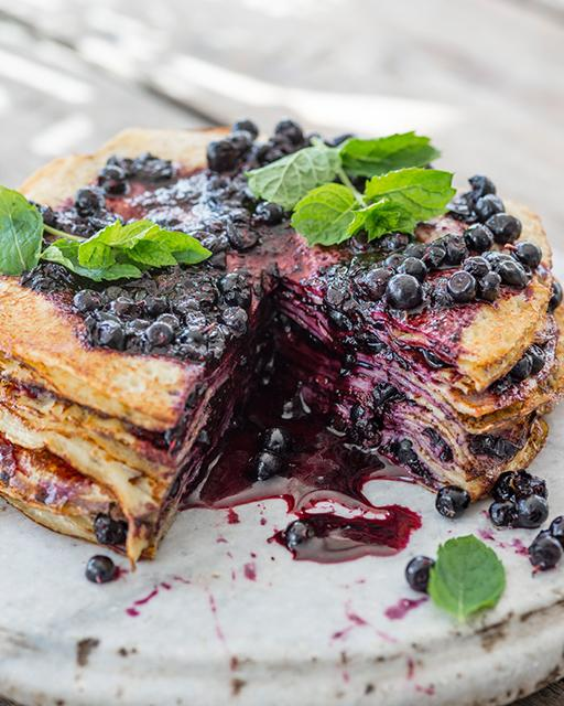 Blueberry Thousand Layer Cake from Sweet Paul Magazine
