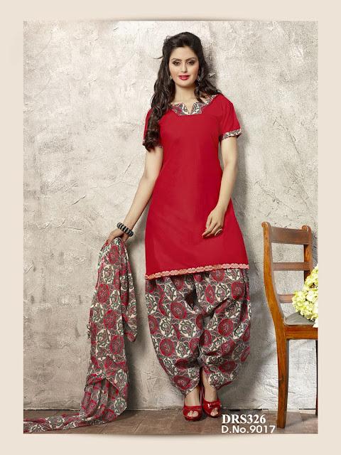 Patiala Style Cotton Embroidered Salwar Kameez – Wholesale