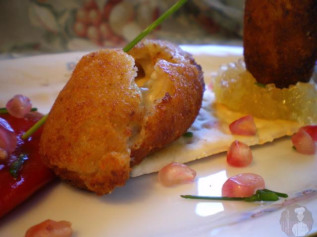 Croquetas de Gorgonzola con cabello de ángel