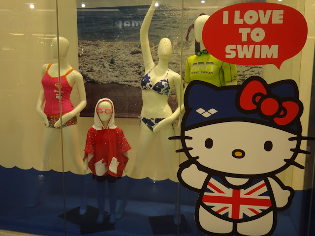 Hello Kitty Swimsuits window display