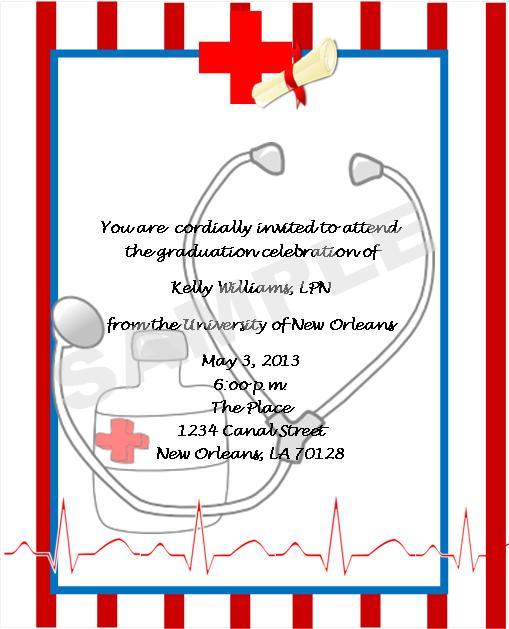Nurse Retirement Invitations with great invitation template