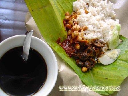 how to drink kopi lemak
