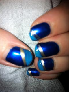 blue manicure nailart