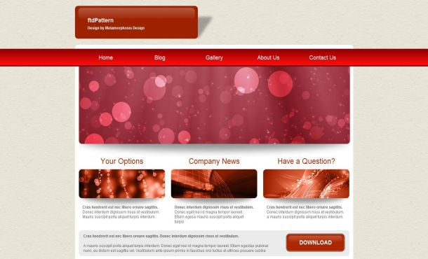 Free red gray business jquery website template wajeb Image collections