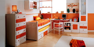 dormitorio juvenil con sinfonier pino