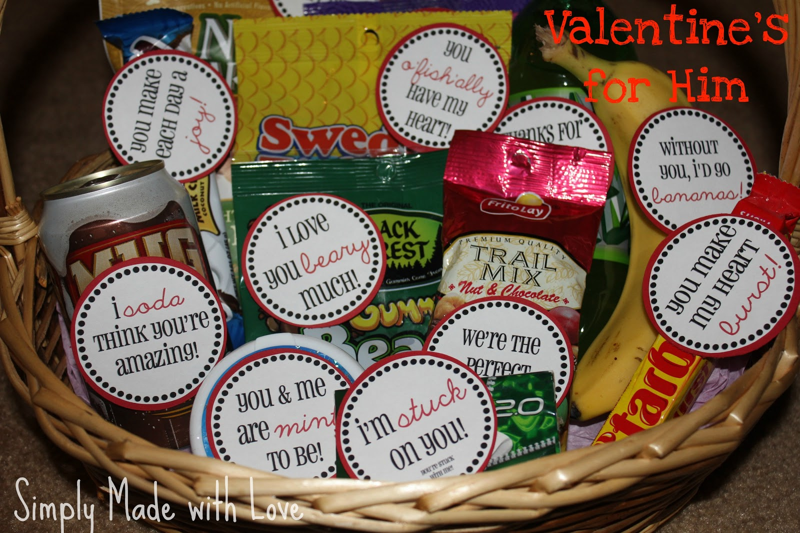simply made with love: Valentine's for Him & Free Printable