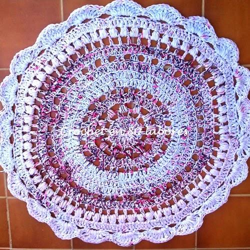Patrones trapillo alfombra de trapillo o totora - Alfombra de trapillo cuadrada ...
