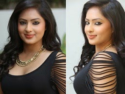 Actress Nikesha Patel Glamorous Stills In Black Dress