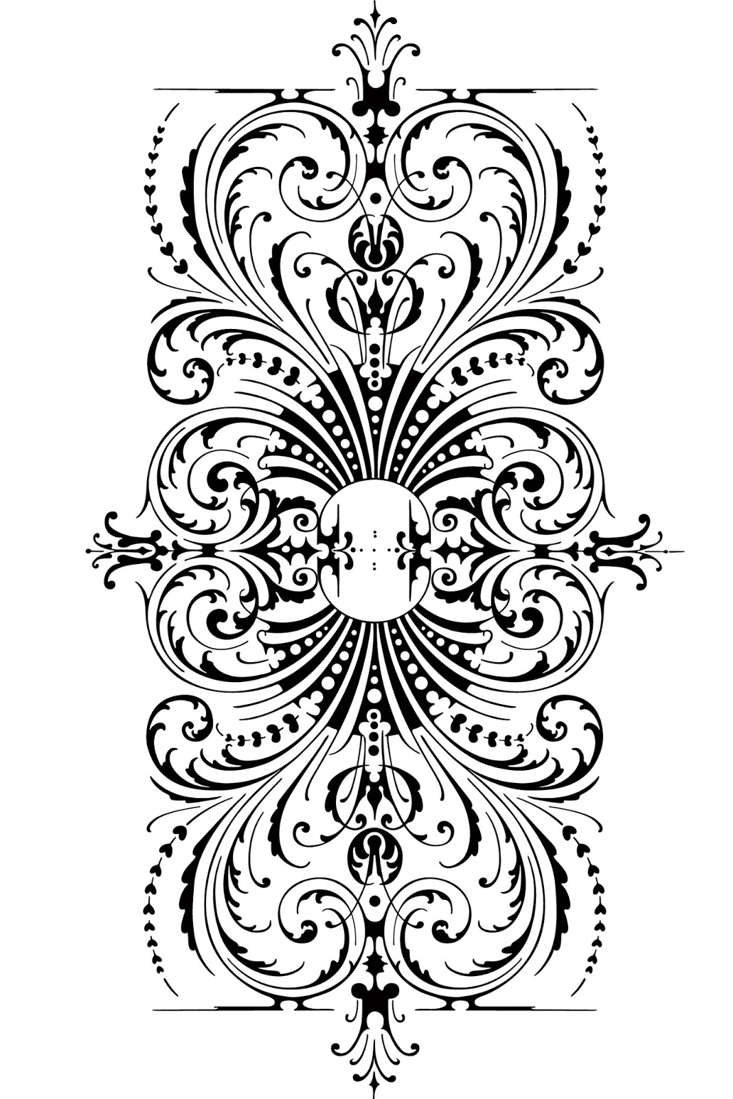 Free vintage clip art images calligraphic ornaments