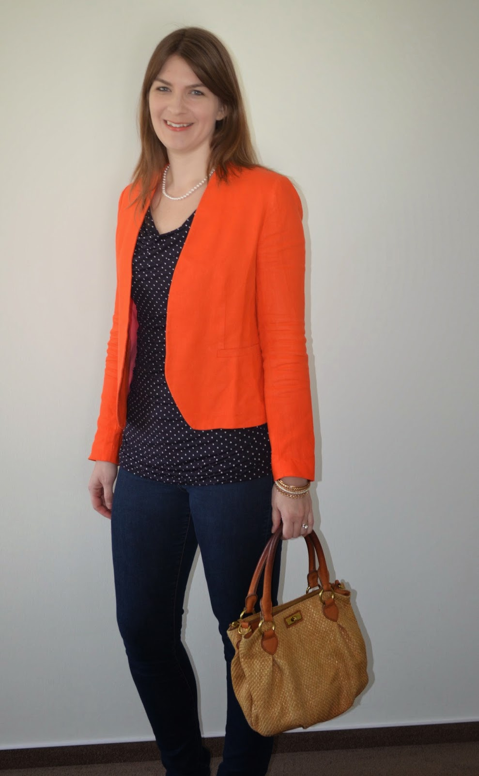 Review of Long Tall Sally Polka Dot Top, Tall Loft Blazer