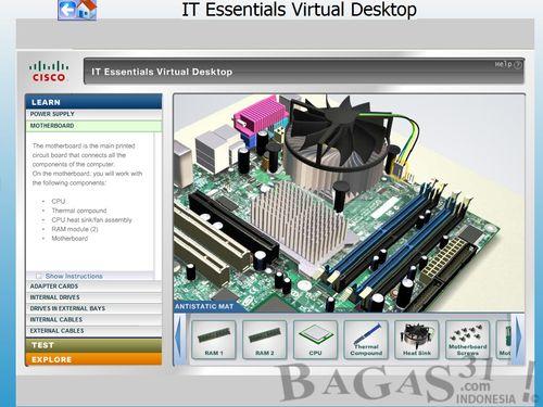 Belajar Merakit Komputer dengan IT Essentials Virtual Dekstop