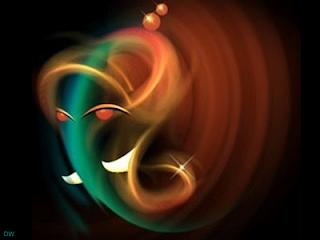 Computer graphic Ganesh photos