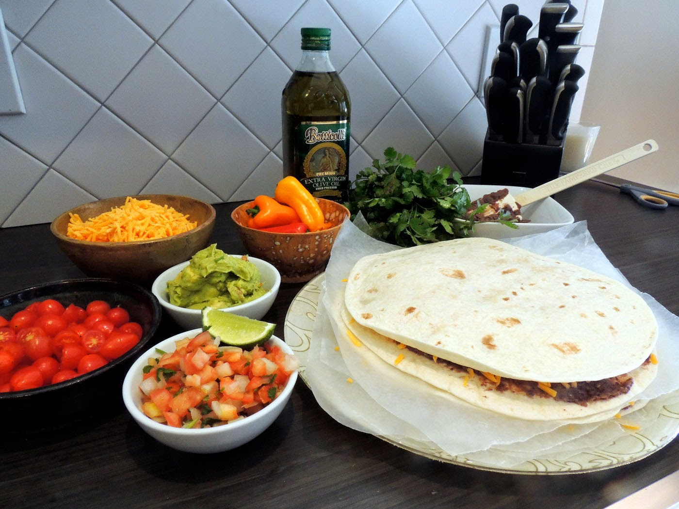Grilled quesadillas