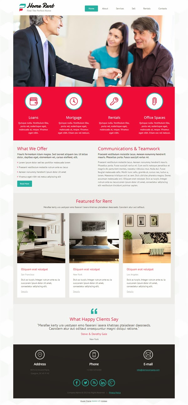 Home Rent - Free Drupal Theme