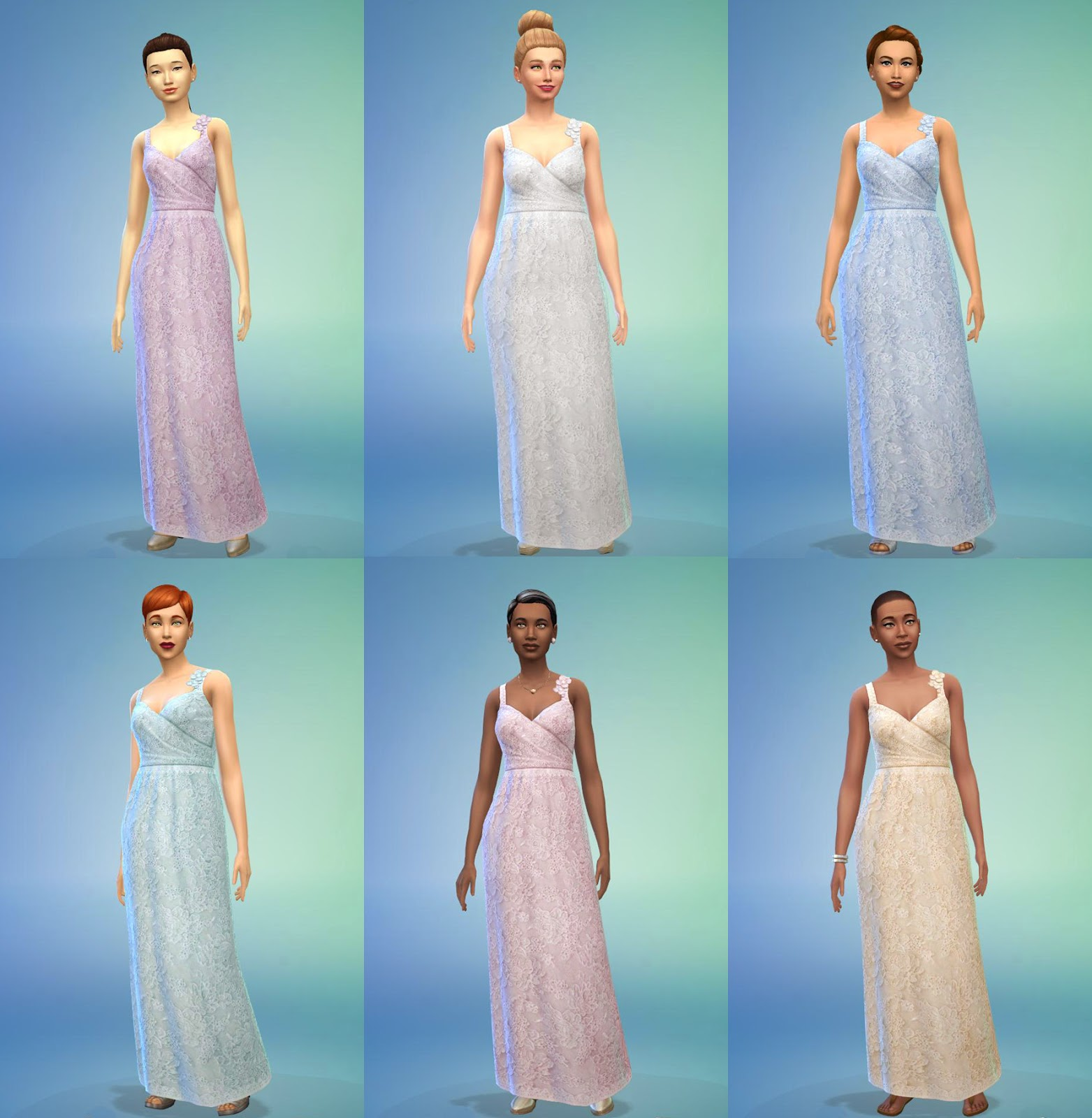 Marie\'s Sims: Non-Default Wedding Gowns for the Sims 4
